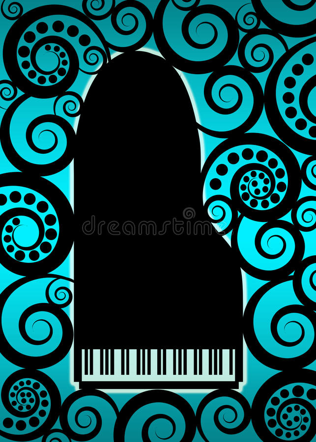 Grand piano background royalty free stock image