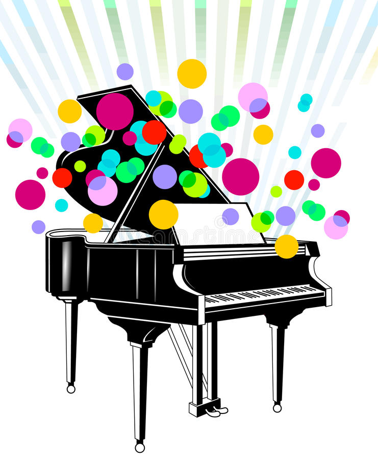 Download Grand piano concert stock vector. Image of grand, play - 15470276