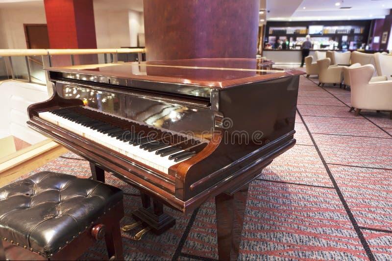 Grand Piano At Hotel Bar Area Royalty Free Stock Photos