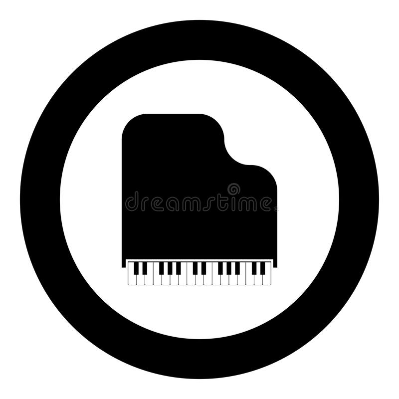 Grand piano icon black color vector illustration simple image. Flat style stock illustration