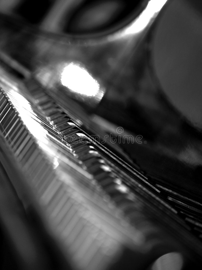 Grand Piano Keys royalty free stock photo