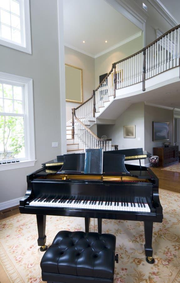 Grand Living Room: Grand Piano Living Room Stock Photography