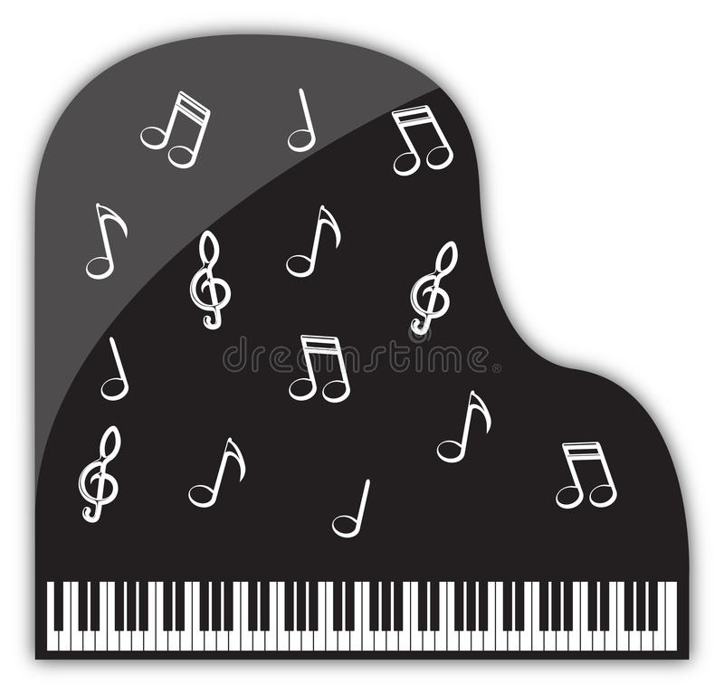 Grand Piano Musical Decorations stock illustration
