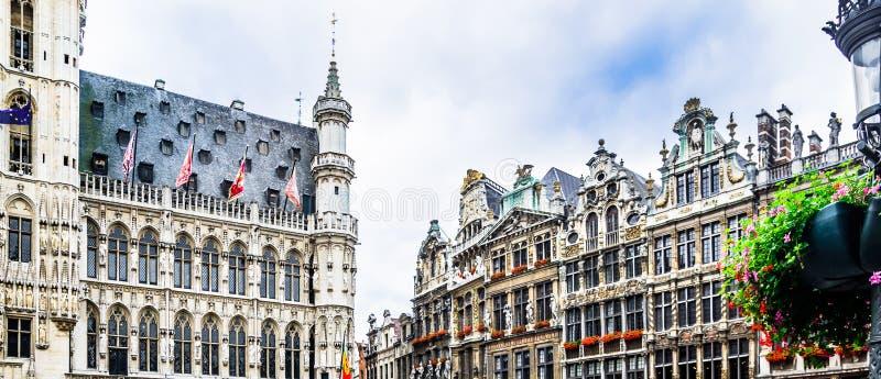 Grand Place av Bruxelles - Belgien arkivbilder