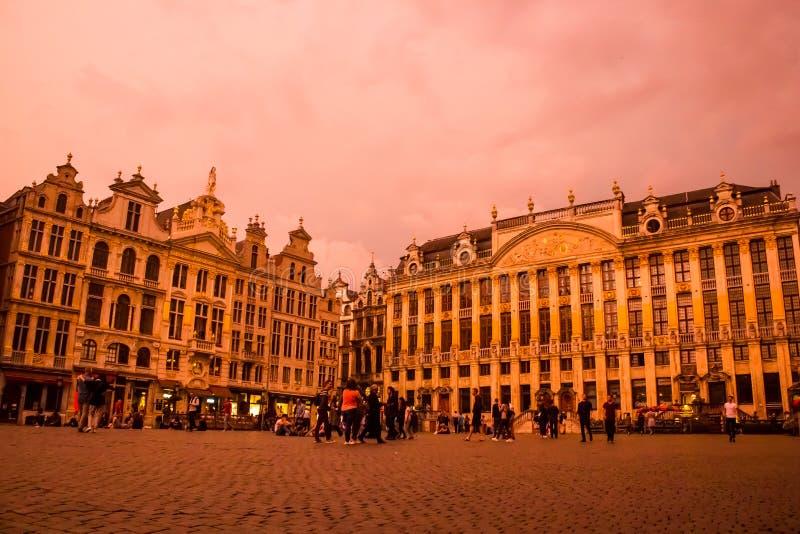 Grand Place, Bruselas: esquina del este fotografía de archivo