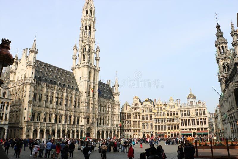 Grand Place, Brussel België stock foto's