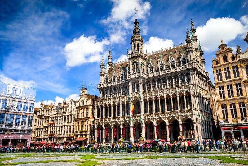 Grand Place, Brussel, België stock foto's