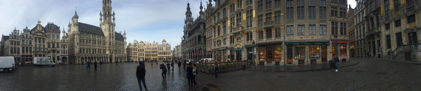 Grand Place Brusseles stock images