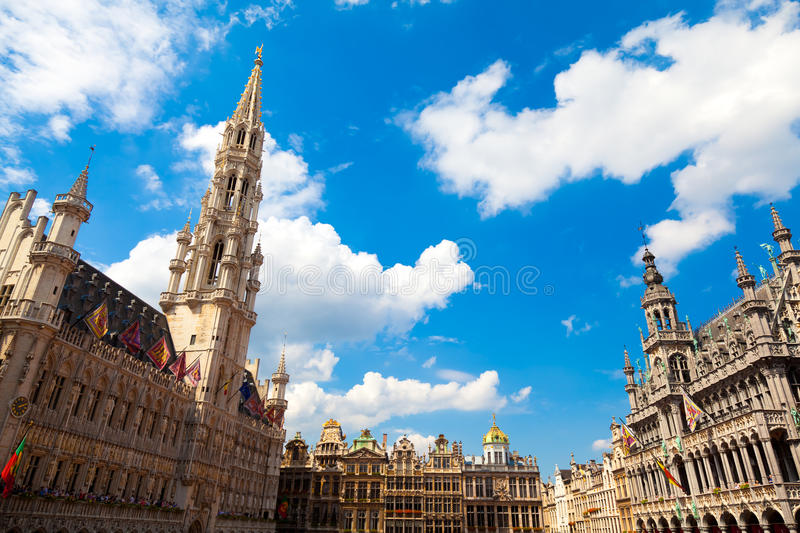 Download Grand Place, Brussels stock image. Image of cloud, markt - 15700177