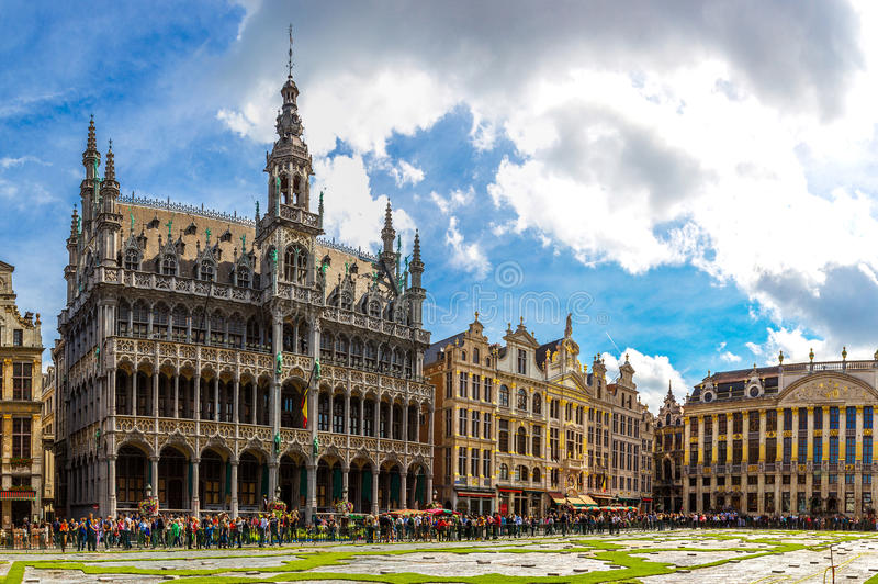 The Grand Place in Brussels royalty free stock photo