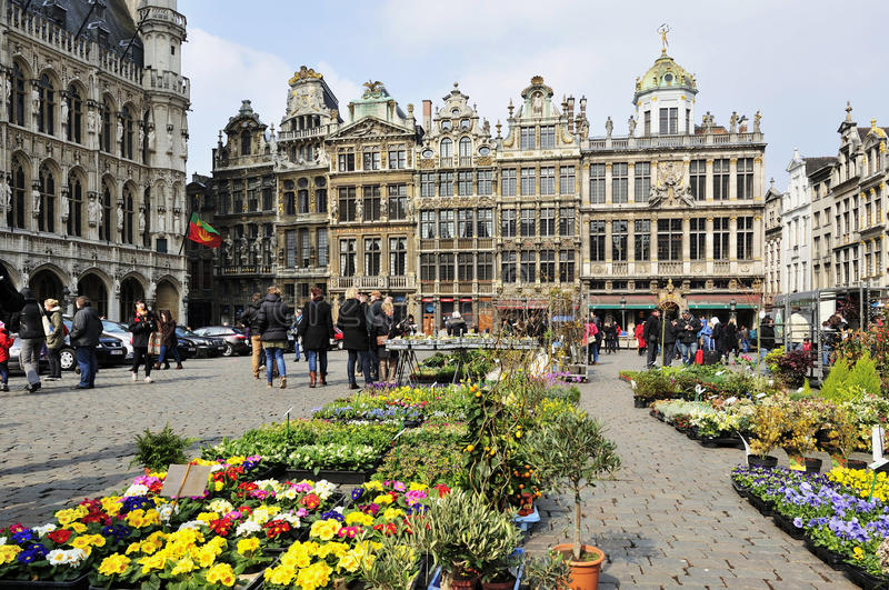 Grand Place in Brussels stock photos