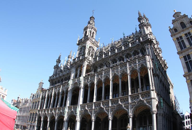 Grand Place, Brussels.Maison du Roi Kings House. Maison du Roi Kings House in Grand Place, Brussels.Belgium.2019 year stock photos