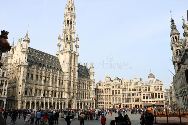 Grand Place, Bruxelas Bélgica fotos de stock