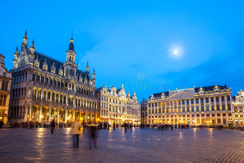 Grand Place Bruxelas, Bélgica foto de stock royalty free