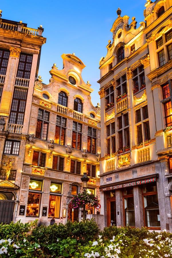 Grand Place Bruxelles, Belgien royaltyfria bilder