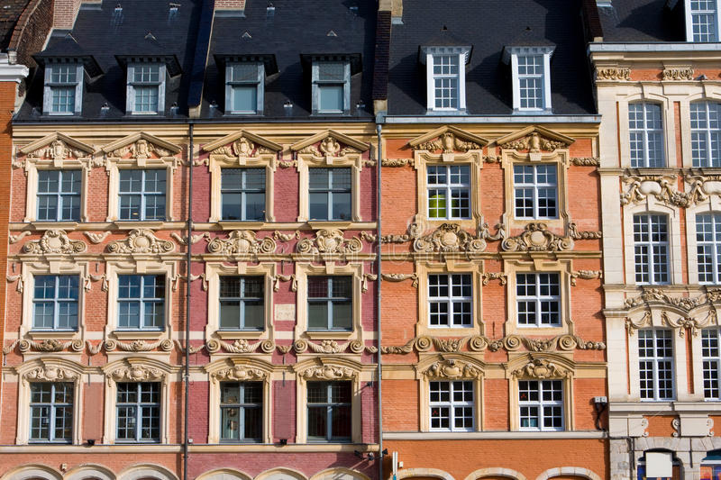 Grand Place de Lille. Historical houses at the Grand Place in Lille, France royalty free stock photography