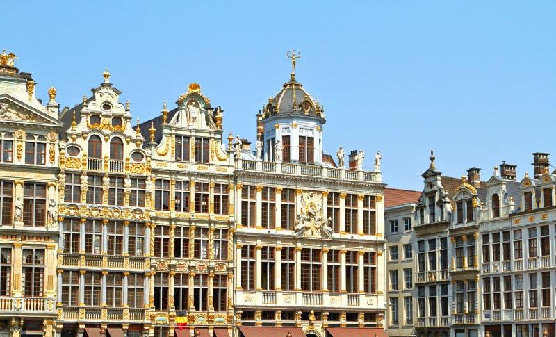 Grand Place em Bruxelas, Bélgica julho imagem de stock royalty free
