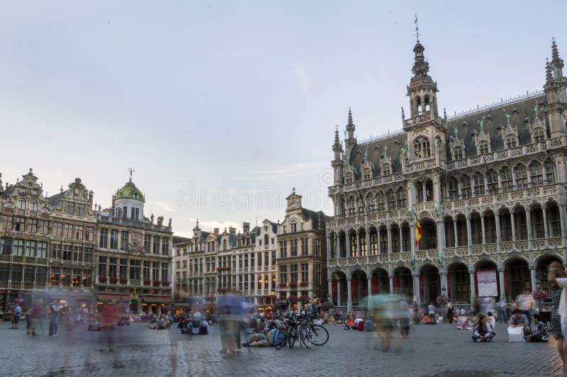 Grand Place en Bruselas imagenes de archivo