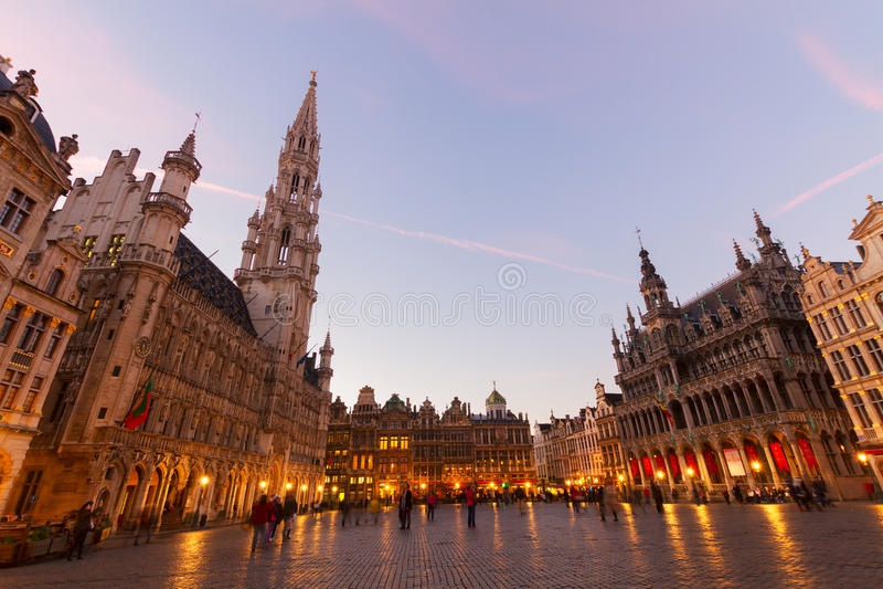 Grand Place en Stadsvierkant, Brusseles stock afbeelding