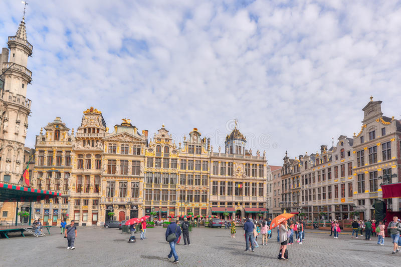 Grand Place Grote Markt - central square of Brussels. It is su royalty free stock photography