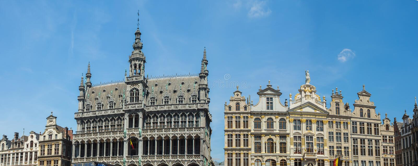 Grand Place is het stadscentrum van Brussel royalty-vrije stock fotografie