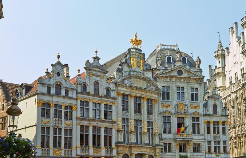 Grand Place i Bryssel, Belgien Juli fotografering för bildbyråer