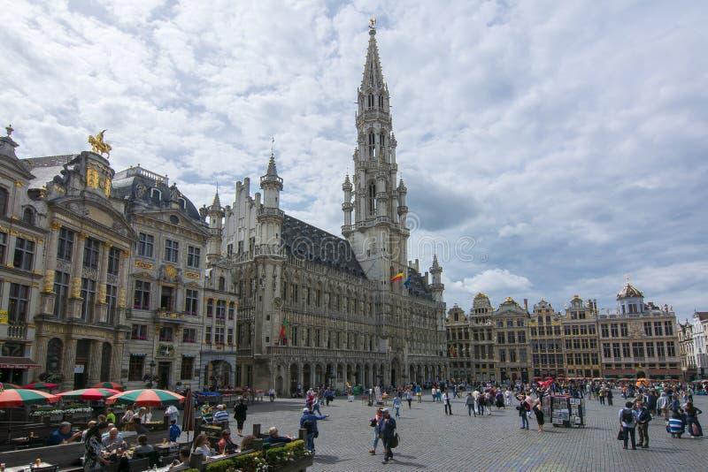 Grand Place -Quadrat in der Mitte von Brüssel, Belgien stockfotografie