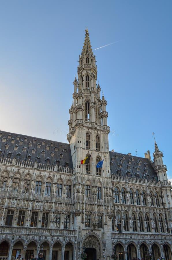 Grand Place van Brussel in België royalty-vrije stock afbeeldingen