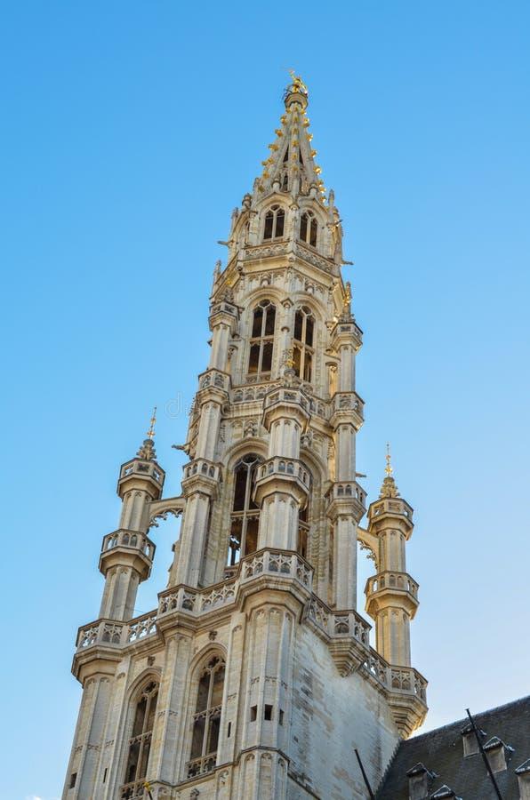 Grand Place van Brussel in België stock afbeelding