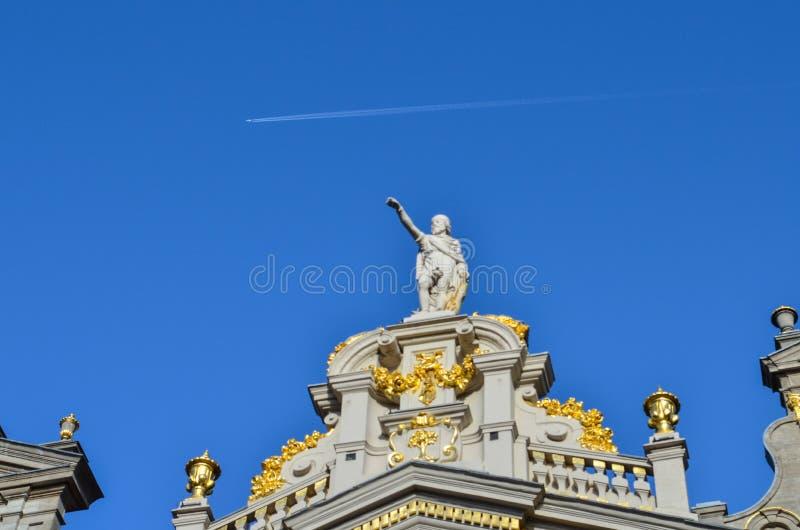 Grand Place van Brussel in België stock afbeeldingen