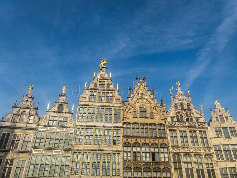 Grand Place van Brussel in België stock fotografie