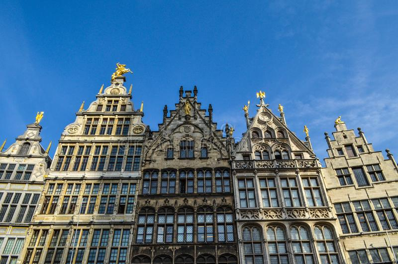 Grand Place van Brussel in België stock foto