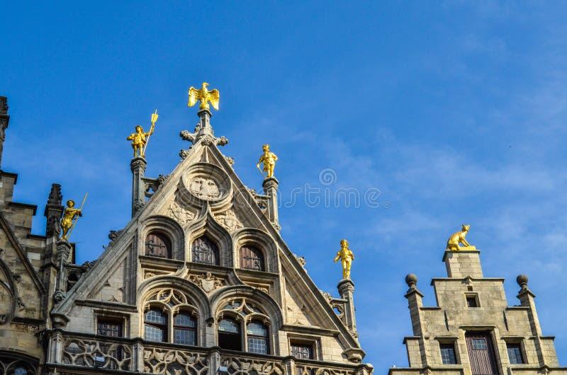 Grand Place van Brussel in België royalty-vrije stock fotografie