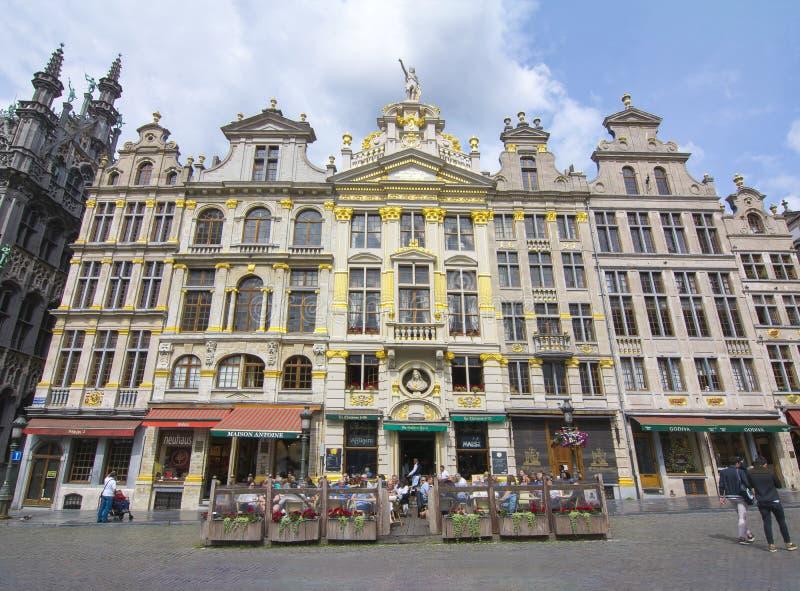 Grand Place -vierkant in centrum van Brussel, België royalty-vrije stock fotografie