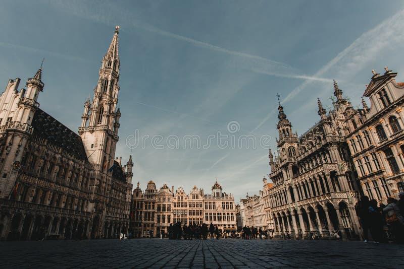 Grand Place von Brüssel lizenzfreie stockfotos