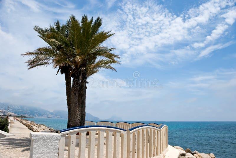 Grand playa levante-benidorm, Espagne photographie stock