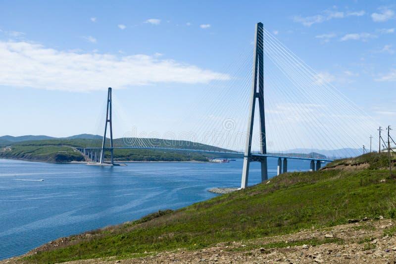 Grand pont suspendu image libre de droits