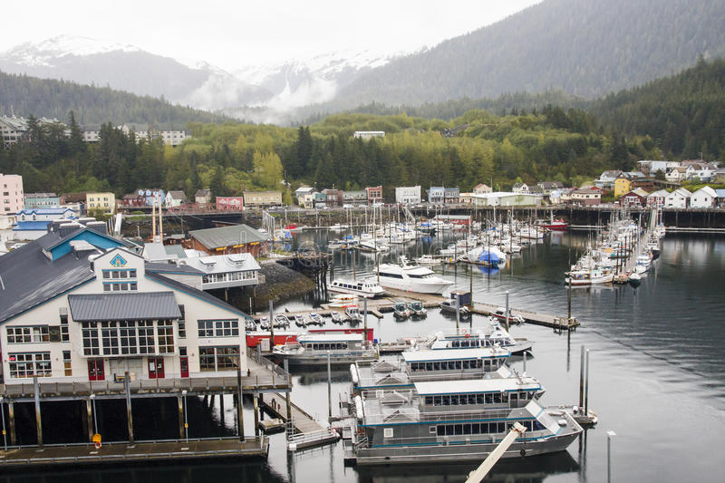 Grand port en Alaska images libres de droits