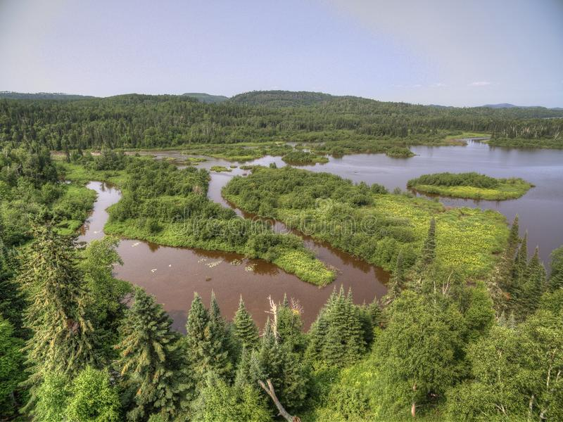 Grand Portage Indian Reservation on the Far North Corner of Minnesota borders Ontario, Canada.  stock photos
