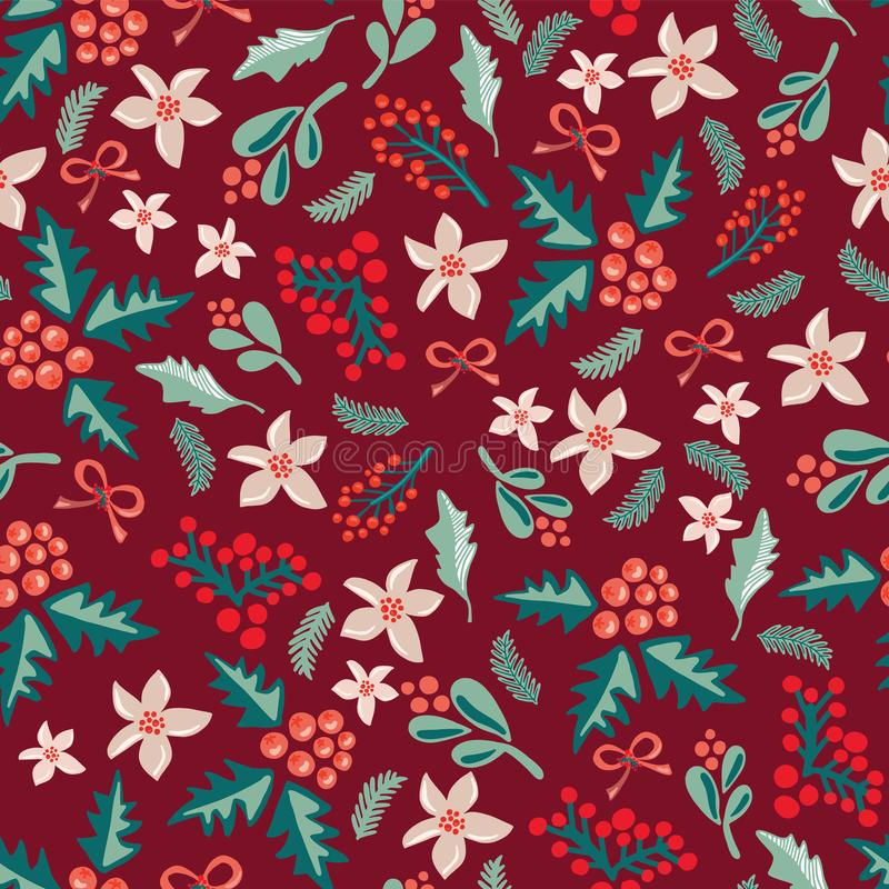 Grand pour la saison de Noël - cartes de voeux, enveloppe de cadeau, tissu illustration libre de droits