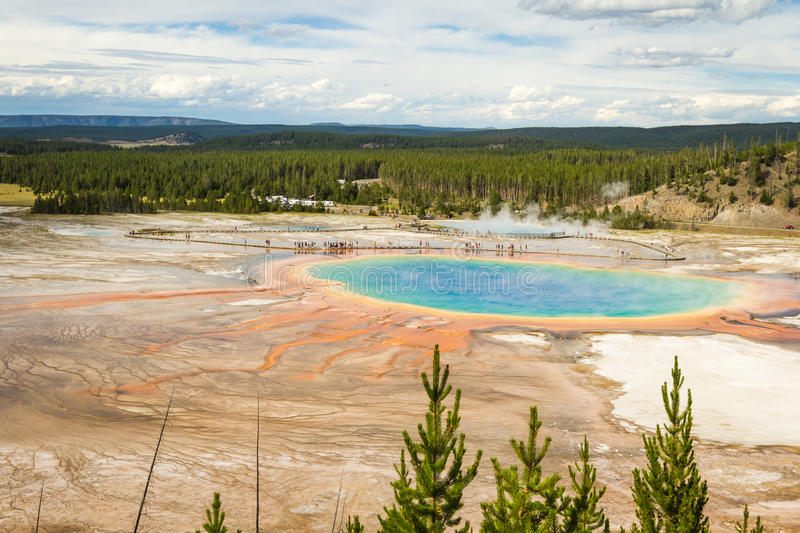 Grand prismatic pool, yellowstone National park stock photography