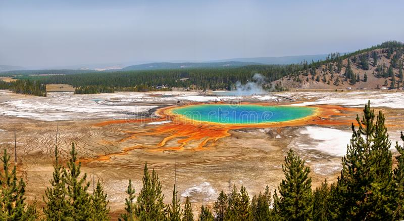 Grand Prismatic Pool Yellowstone National Park stock image