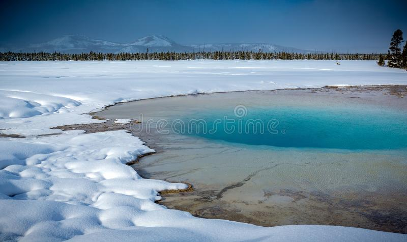 Grand Prismatic Pool at Yellowstone National Park6p stock image