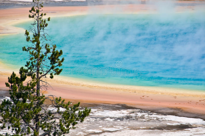 Grand Prismatic spring, Yellowstone National Park stock image
