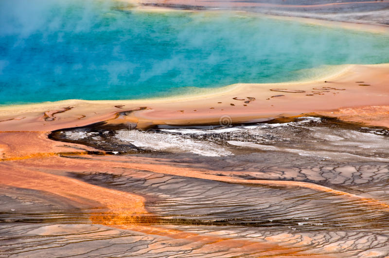 Grand Prismatic spring, Yellowstone National Park stock photo
