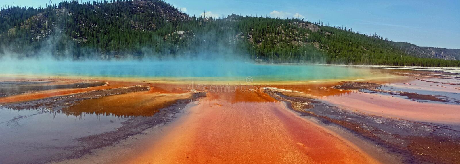 Grand Prismatic Spring, Yellowstone National Park stock photography