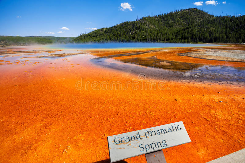 Grand Prismatic Spring in yellowstone USA stock images
