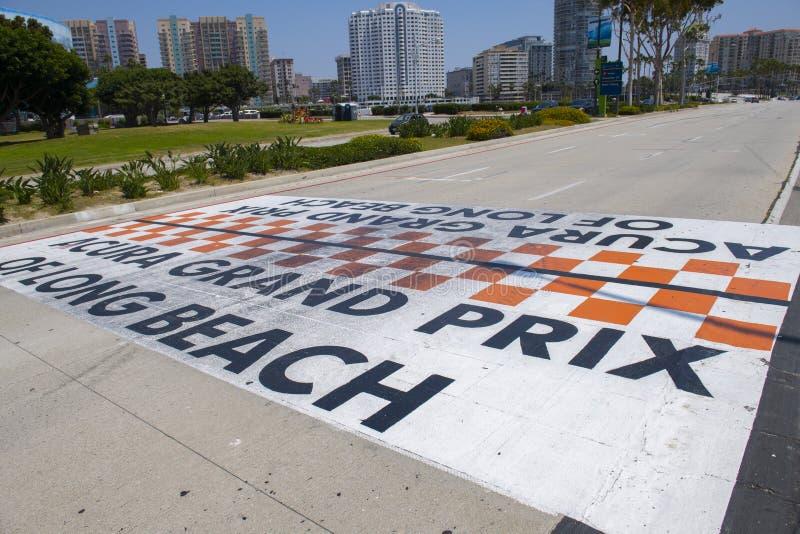 Grand Prix Acura della linea di finitura Long Beach in California immagini stock libere da diritti