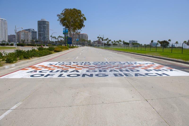 Grand Prix Acura della linea di finitura Long Beach in California immagini stock