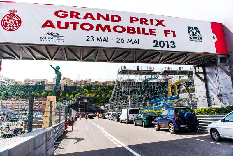Grand Prix Automobile F1 sign-board royalty free stock photography